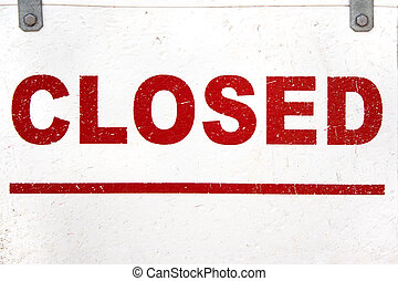 Closed Sign Closeup