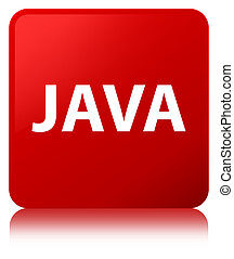 Java red square button - Java isolated on red square button...