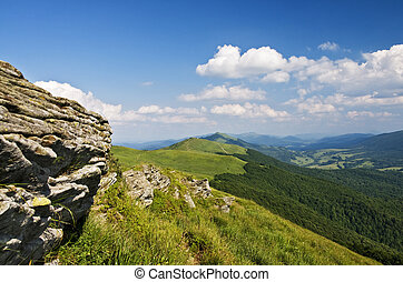 Bieszczady mountains panoramic
