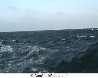 Waves on sea - Nice waves filmed from a catamaran. Good...