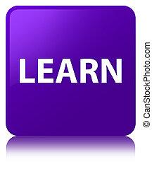 Learn purple square button