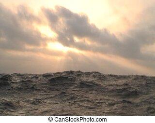 Sky on sea
