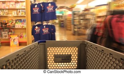 Shopping Cart in the Grocery Store