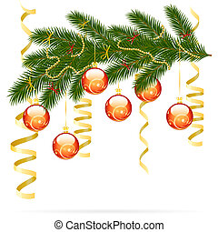 Christmas fir tree - Illustration of christmas fir tree with...