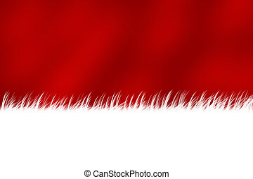 Christmas Stocking - A red christmas stocking background,...