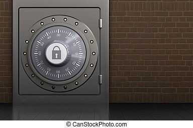 3d combination lock metal safe