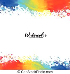 watercolor frame background in bright colors