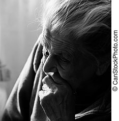 very old tired woman - Portrait of a very old tired woman...