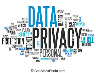 Word Cloud Data Privacy - Word Cloud with Data Privacy...