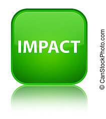 Impact special green square button - Impact isolated on...