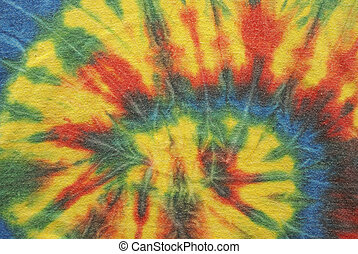 Tie Dye Background - A macro shot of some tie dyed cotton...