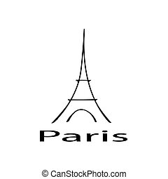Eiffel Tower with the inscription Paris seamless pattern