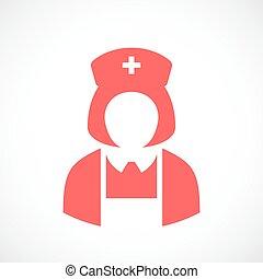 Nurse doctor woman vector icon