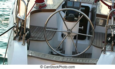 Steering system boat - In the first frame of the steering...