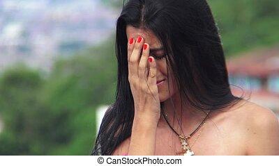 Sad Catholic Female Teen