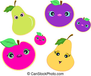 Mix of Cute Fruits