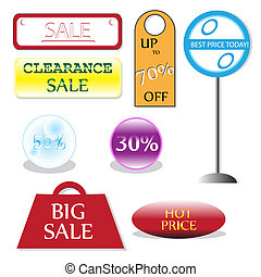 For sale signs - A vector illustration of for sale signs