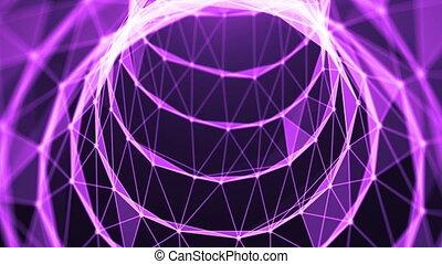 Journey in data tunnel. Speed motion inside fibre optic...