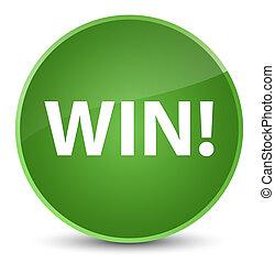 Win elegant soft green round button
