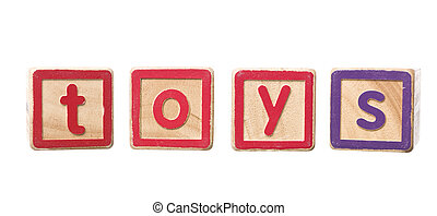 The word toys built by Play Blocks