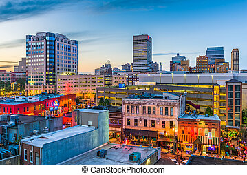 Memphis Tennessee Skyline - Memphis, Tennessee, USA downtown...
