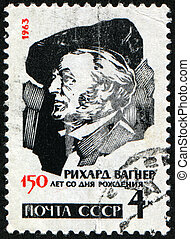 Wilhelm Richard Wagner - USSR -CIRCA 1963: A stamp printed...