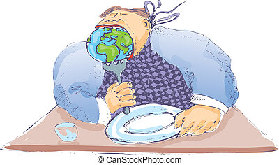 Hunger - Hungry fat man that eat the whole world