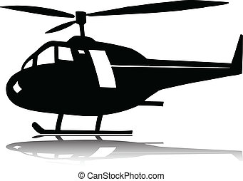 helicopter one vector silhouettes