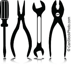 home tools vector silhouettes
