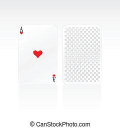 heart ace card vector illustration