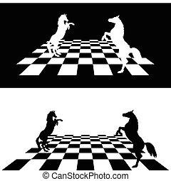horse black and white illustration1