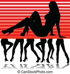 hot girl legs illustration