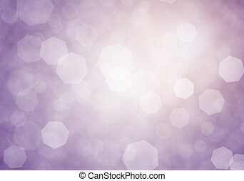 Abstract mellow purple Shining lights bokeh background.