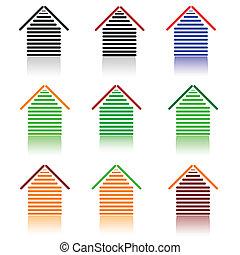 house set icon illustration