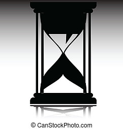 hourglass vector silhouettes
