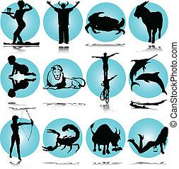 illustration of zodiac