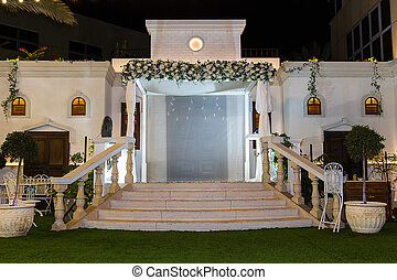 Jewish Hupa , wedding putdoor . - Beautiful photo of the...