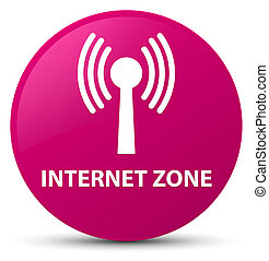 Internet zone (wlan network) pink round button - Internet...