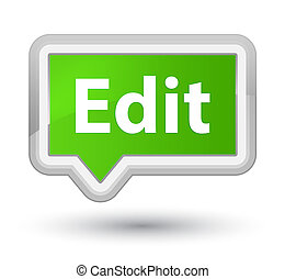 Edit prime soft green banner button - Edit isolated on prime...