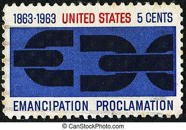 Emancipation proclamation - UNITED STATES OF AMERICA - CIRCA...