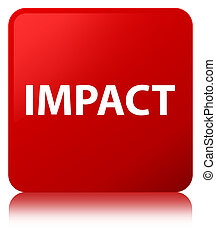 Impact red square button - Impact isolated on red square...