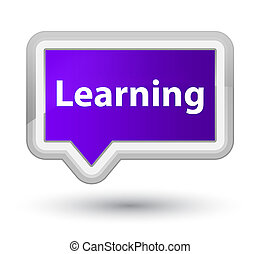Learning prime purple banner button