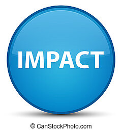 Impact special cyan blue round button - Impact isolated on...