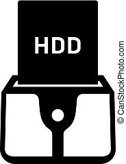 HDD dock station icon
