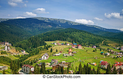Comfortable houses in the Carpathian mountains