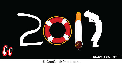 look at the new year vector illustr