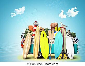 Blue van c surfboards