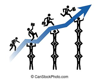 teamwork helps business growing up - isolated teamwork helps...