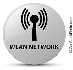 Wlan network white round button - Wlan network isolated on...