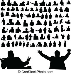 man of situation vector silhouettes
